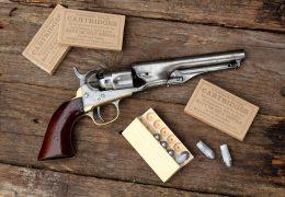 Authentic Richmond Arsenal revolver paper cartridge box for .44 cal